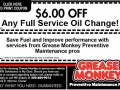 grease monkey oil change coupons denver