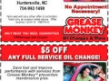 oil change coupons grease monkey